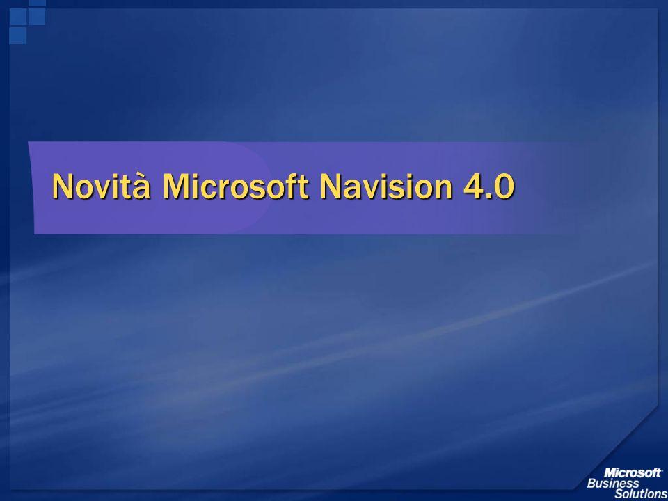 Novità Microsoft Navision 4.0