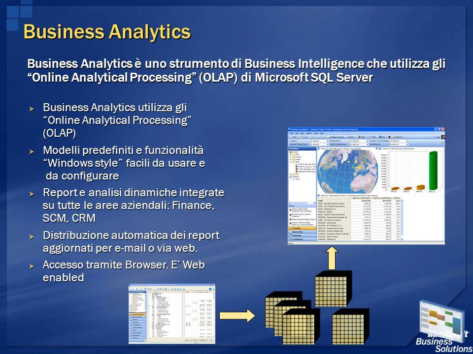 Business Analytics Business Analytics utilizza gli Online Analytical Processing (OLAP) Business Analytics utilizza gli Online Analytical Processing (O