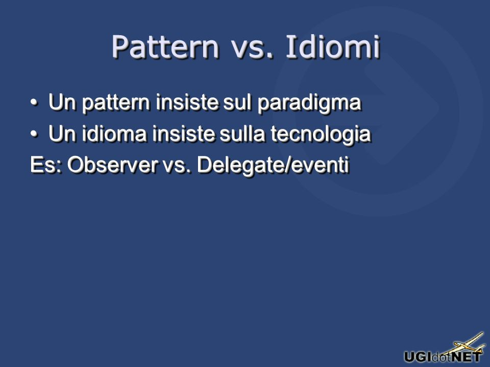 Pattern vs.