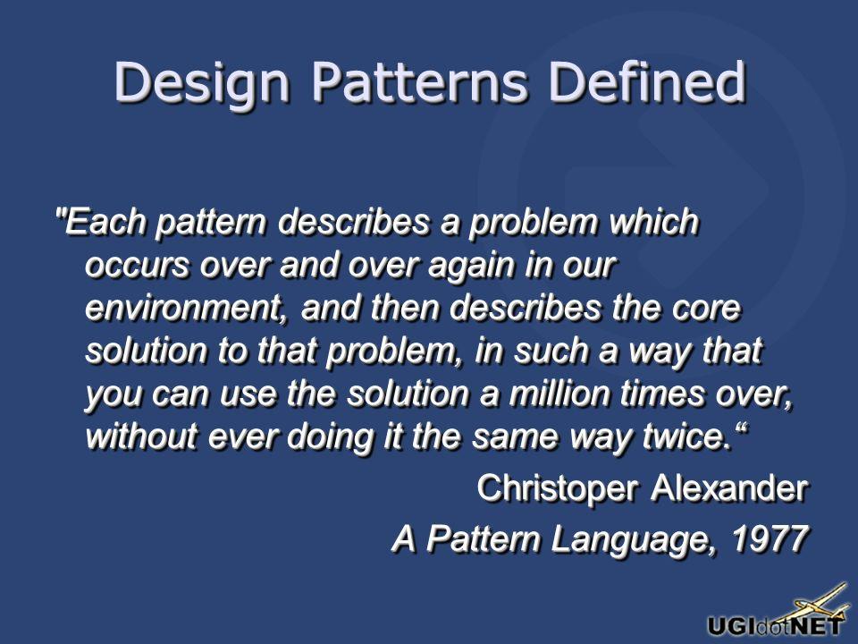 OOD: Design Patterns I pattern costituiscono soluzioni sperimentate a problemi concreti, utilizzabili in contesti applicativi differenti.