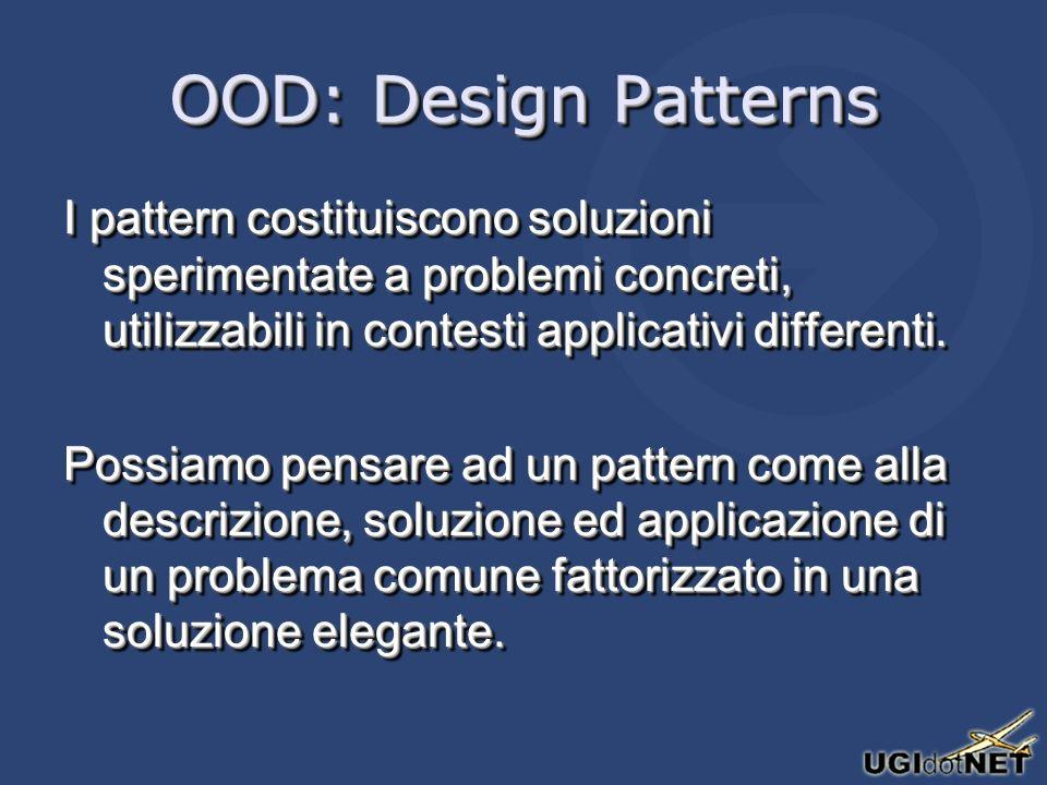 Design Patterns 101 Proviamo ad ipotizzare un pattern: dobbiamo isolare un problema ricorrente, e formulare una soluzione generalmente valida.