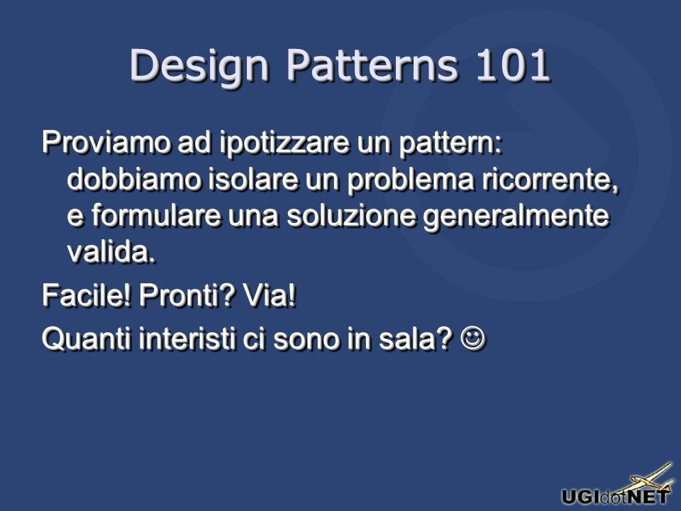 Design Patterns applied Basta con gli esempi sintetici: mettiamo i pattern alla prova in una applicazione reale.