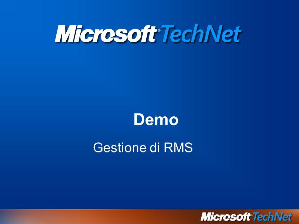 Demo Gestione di RMS