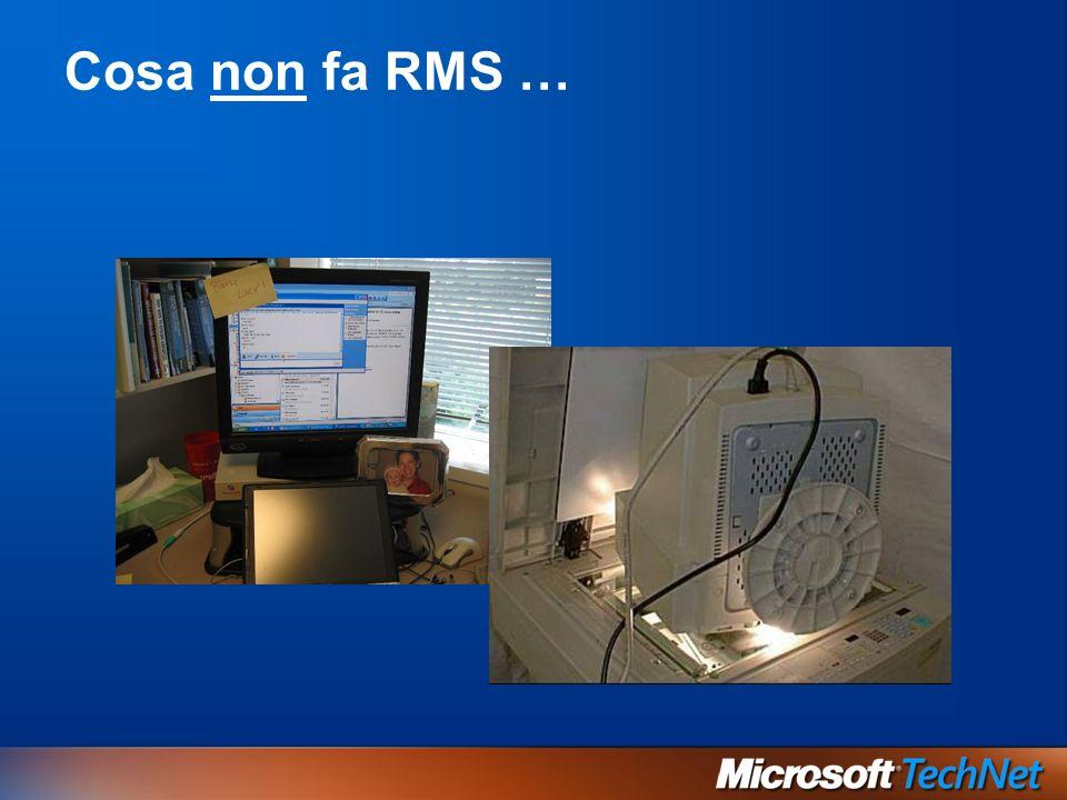 Cosa non fa RMS …
