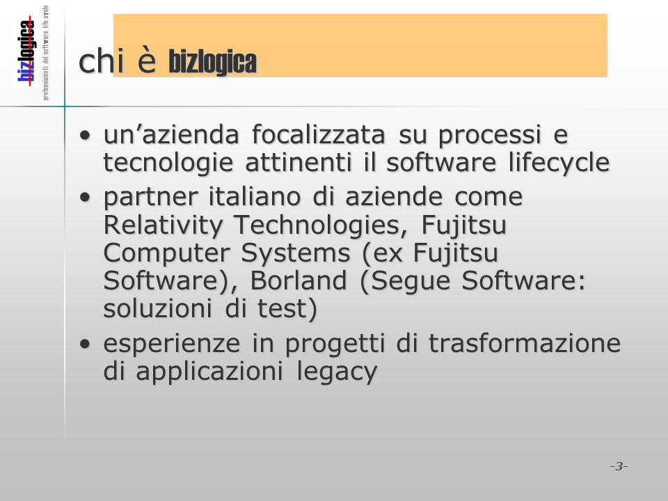 professionisti del software life cycle -3- chi è bizlogica unazienda focalizzata su processi e tecnologie attinenti il software lifecycleunazienda foc