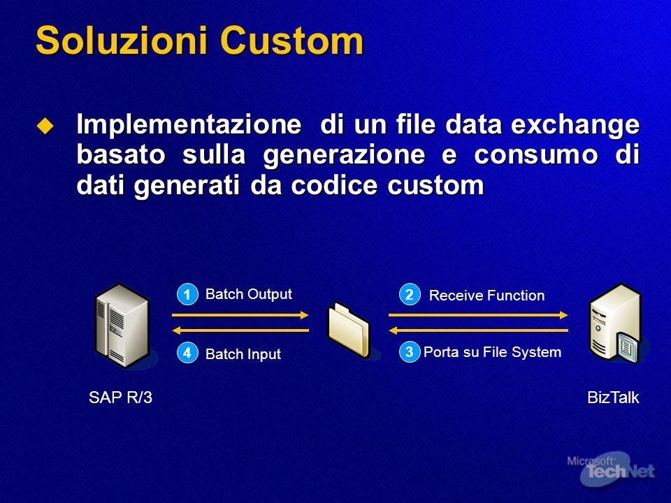 Soluzioni Custom Implementazione di un file data exchange basato sulla generazione e consumo di dati generati da codice custom Implementazione di un f