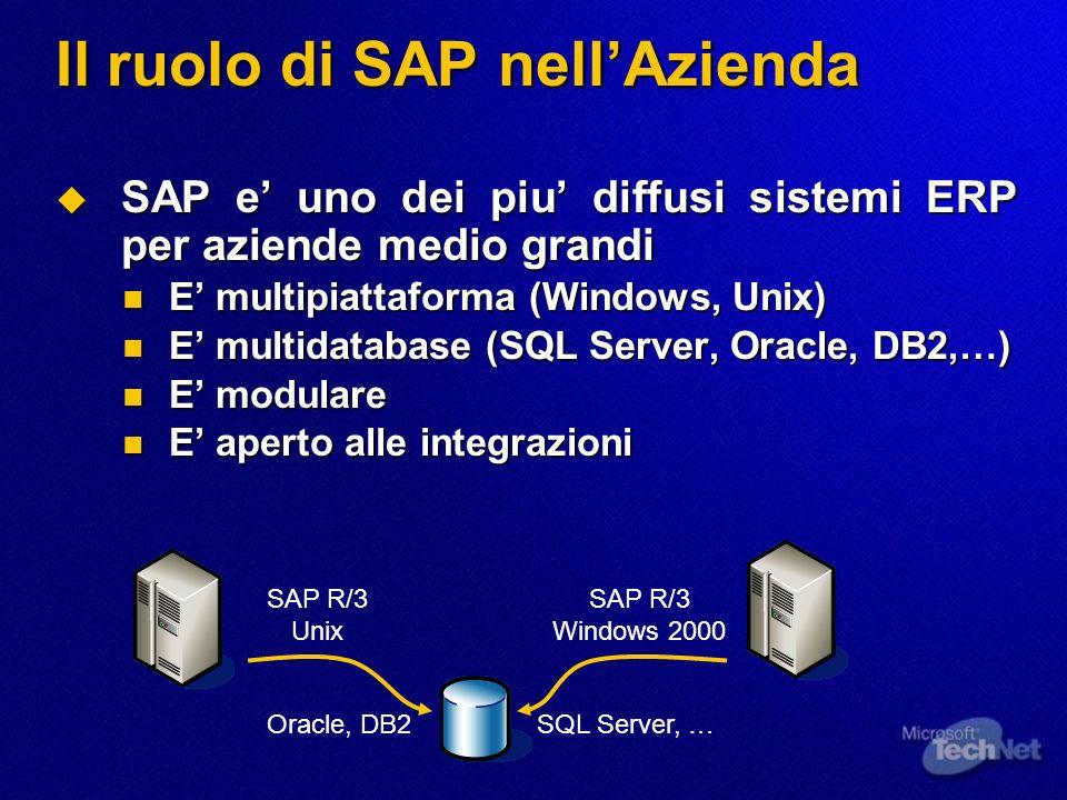 Il ruolo di SAP nellAzienda SAP e uno dei piu diffusi sistemi ERP per aziende medio grandi SAP e uno dei piu diffusi sistemi ERP per aziende medio gra