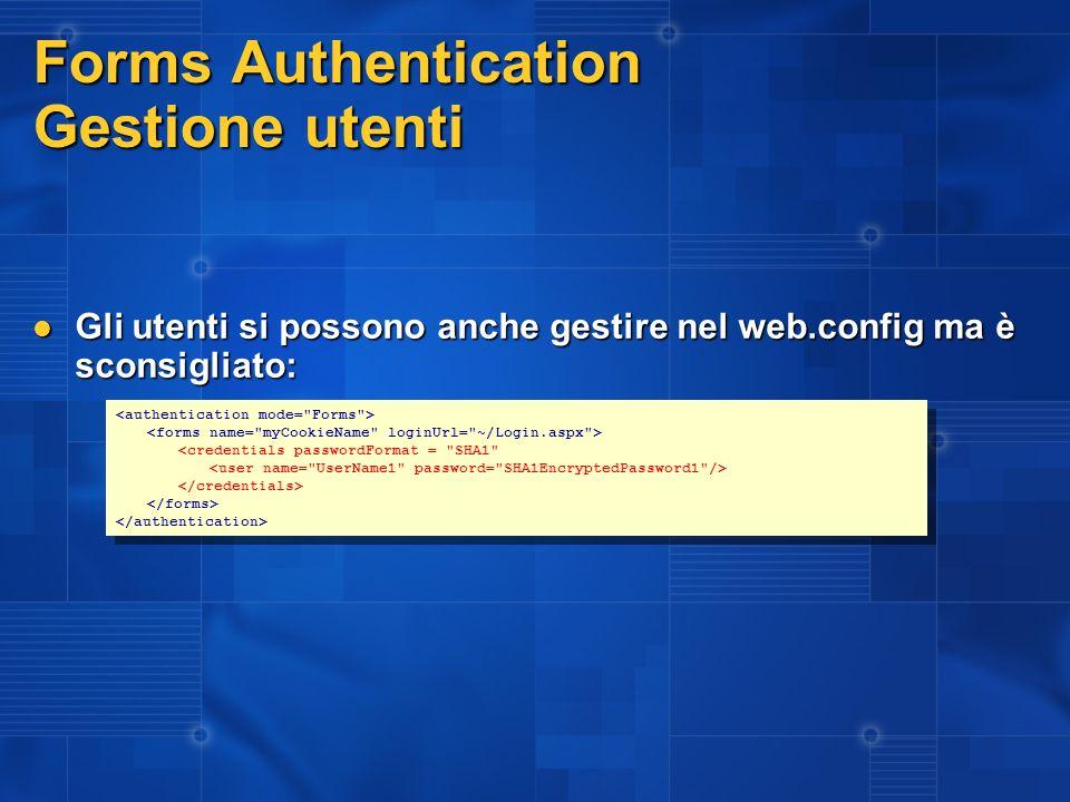 Esempio Forms Authentication