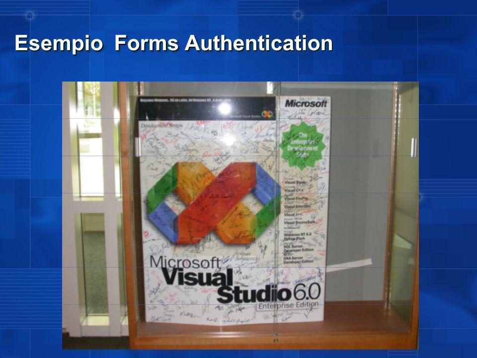 Forms Authentication Tip Diciamo di avere due Web Application...