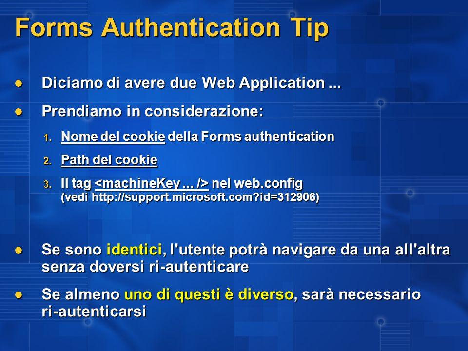 Autenticazione mista Windows / Forms Il problema: In Windows Authentication, l header HTTP LOGON_USER contiene il nome utente In Windows Authentication, l header HTTP LOGON_USER contiene il nome utente Se IIS è configurato come anonimo, NON viene passato il nome utente anche se siamo loggati sul dominio Se IIS è configurato come anonimo, NON viene passato il nome utente anche se siamo loggati sul dominio...