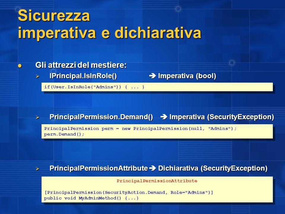 Esempio SecureHandler Role Based Authorization