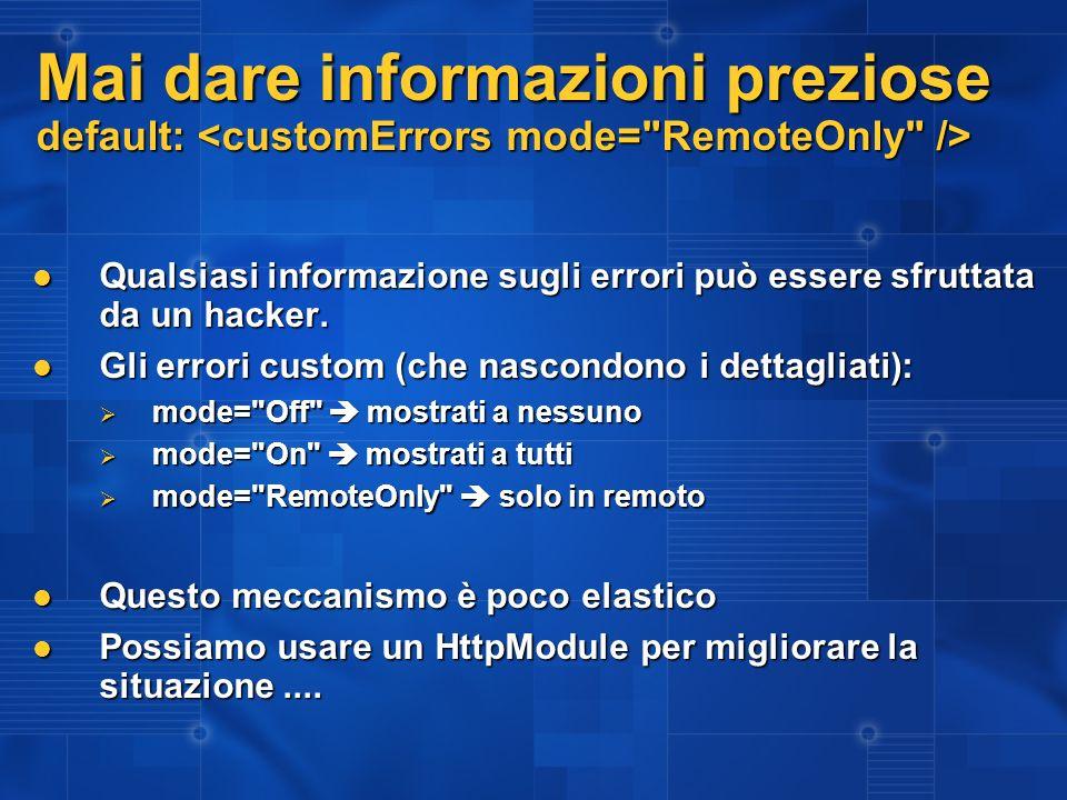 CustomErrorHandler (esempio) 1.Web.Config:.... 1.