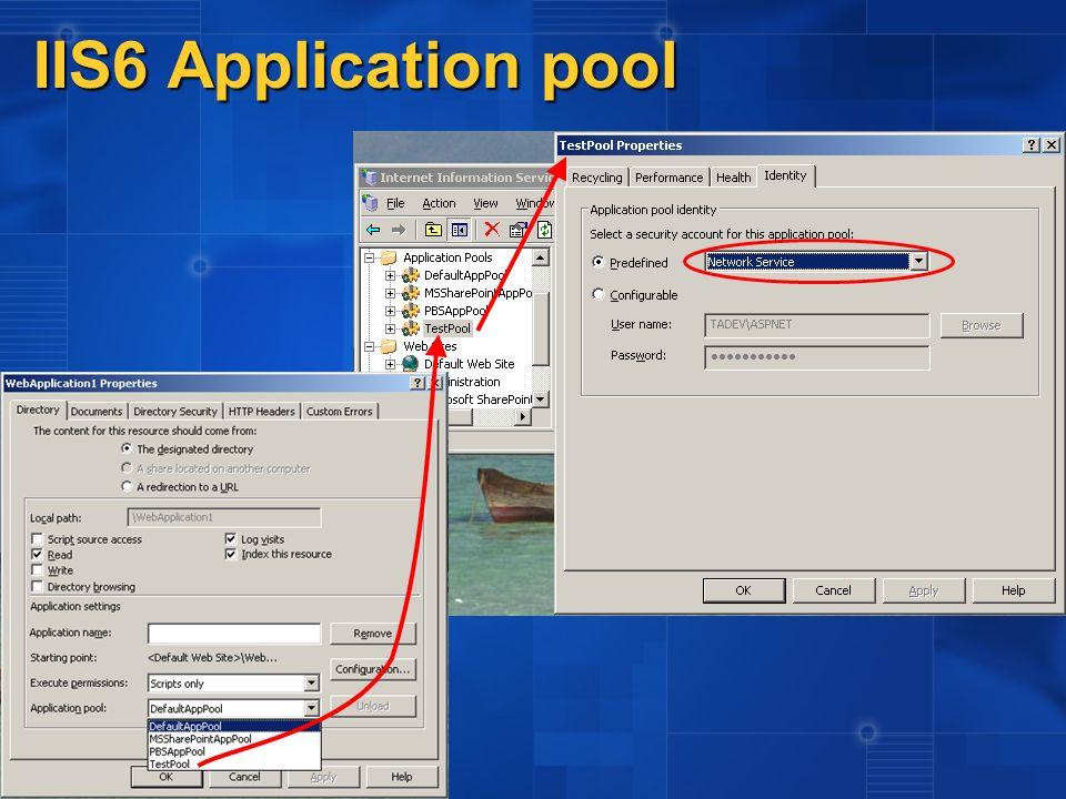 Impersonation (solo con Windows Authentication) Il token di security dell utente autenticato viene impostato sul thread.