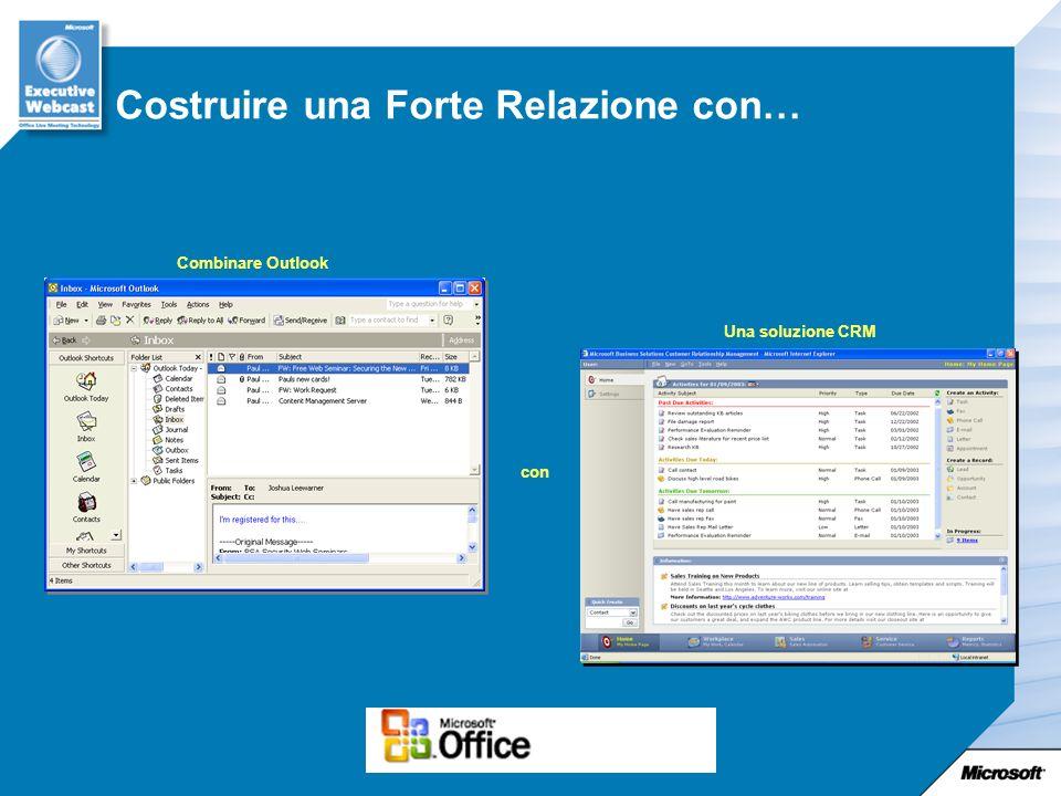 Costruire una Forte Relazione con… Combinare Outlook con Una soluzione CRM
