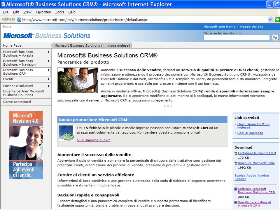 Software ai Partner Sign CSA Agreement – –5 seats of lesson company MAPs – –5 seats of Pro (Internal Use), MAPs Gen 2005 Certified – –10 seats Suite Pro – –Online registration process Certified con competenza Microsoft Business Solutions – –25 seats Suite Pro – –Online registration process Gold Certified – –25 seats Suite Pro – –Online registration process