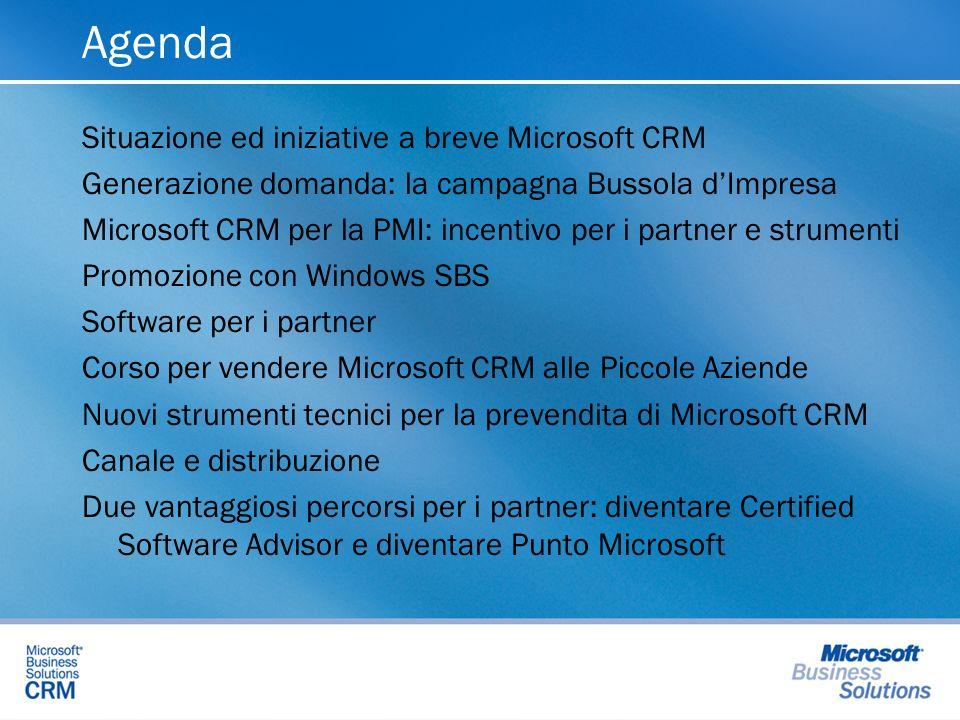 Situazione vendite e canale Microsoft CRM Il mercato italiano del CRM offre enormi opportunità, non solo nelle aziende medie e grandi, ma soprattutto nelle piccole aziende: limportante è saperle cogliere Come va Microsoft CRM in Italia.