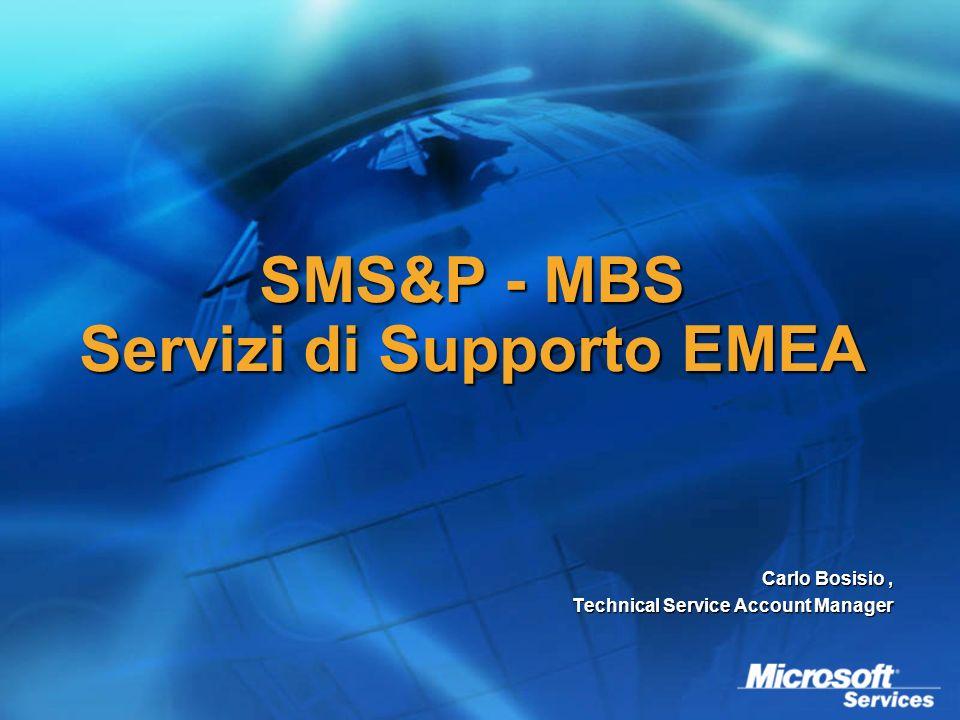 SMS&P - MBS Servizi di Supporto EMEA Carlo Bosisio, Technical Service Account Manager
