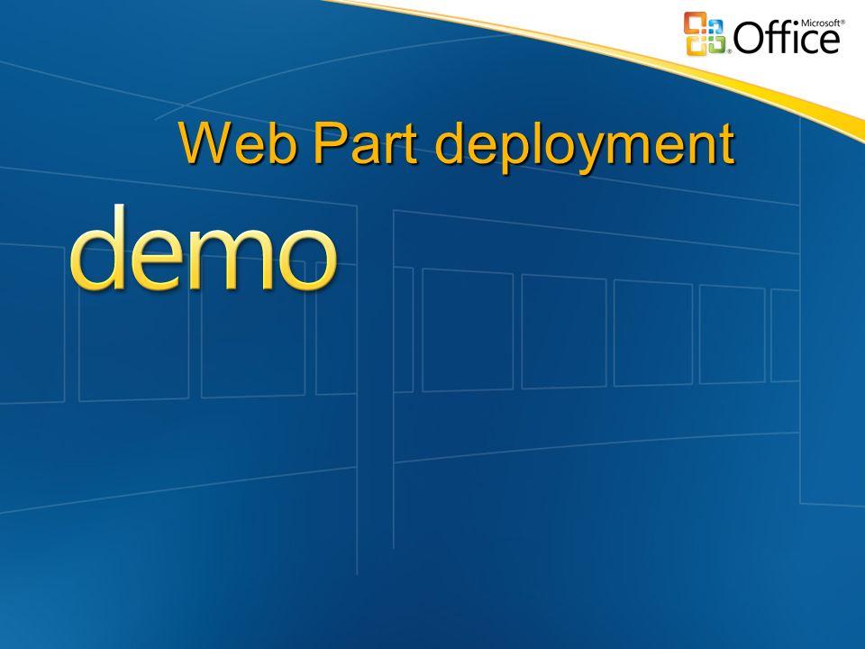 Web Part deployment