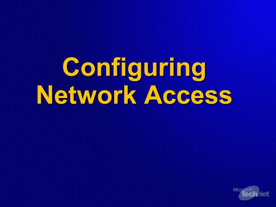 Gestione dellaccesso utente alla Rete Come controllare lAccesso Utente alla Rete Come controllare lAccesso Utente alla Rete Come configurare gli Account Utente per lAccesso alla Rete Come configurare gli Account Utente per lAccesso alla Rete Remote Access Policy Remote Access Policy Remote Access Policy Profile Remote Access Policy Profile