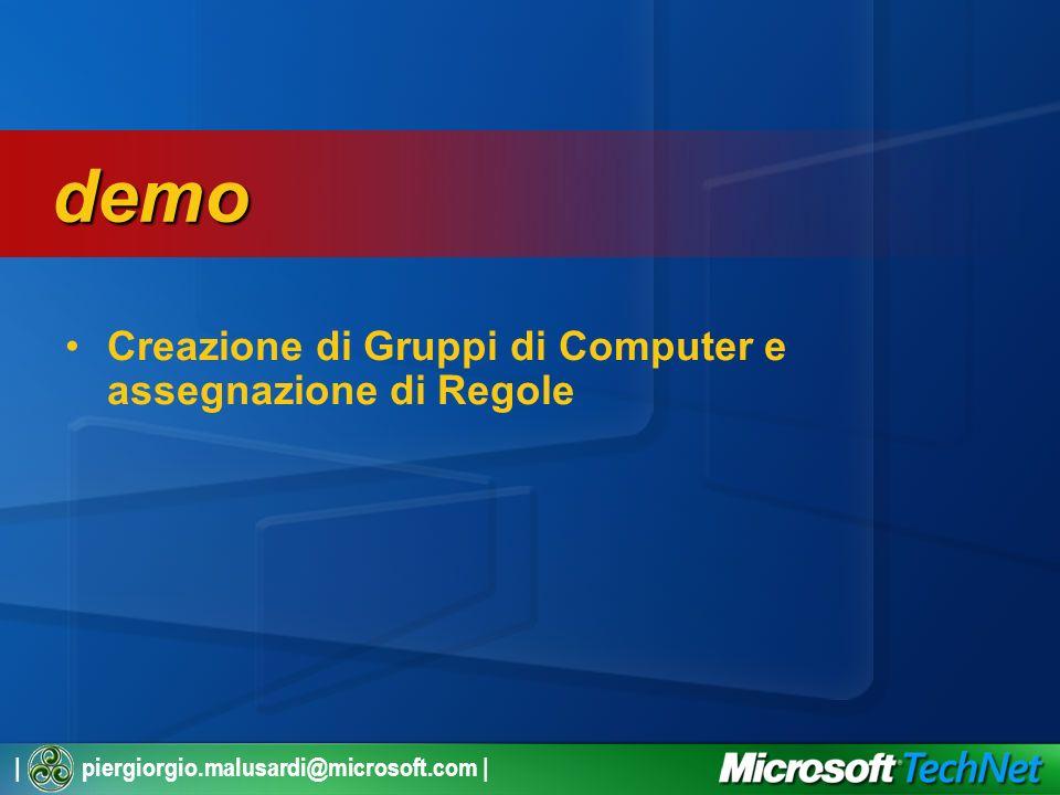 | piergiorgio.malusardi@microsoft.com | Creazione di Gruppi di Computer e assegnazione di Regole demo demo