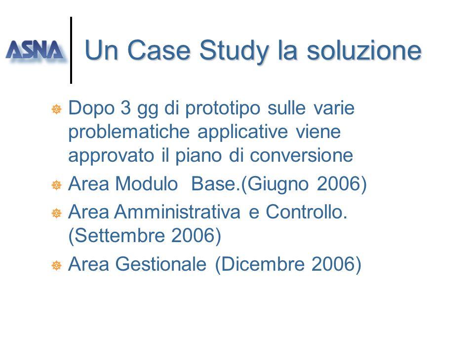 Un Case Study il problema ] Software House da molti anni sul mercato AS/400 iSeries. ] Esigenza di portarsi ed espandersi su nuove fascie di mercato.