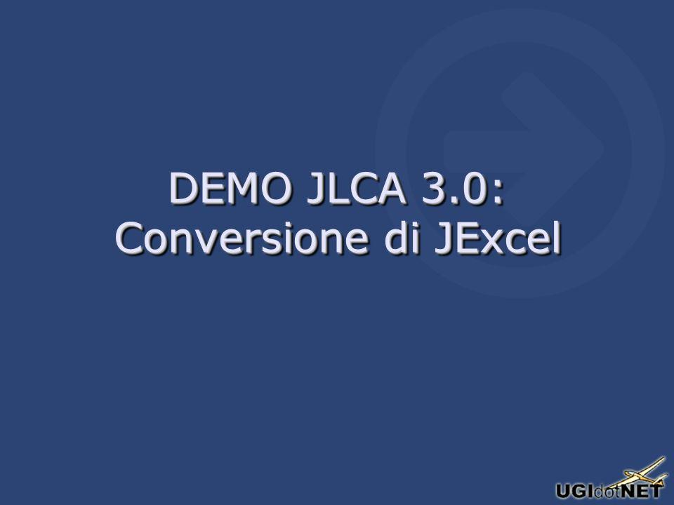 DEMO JLCA 3.0: Conversione di JExcel