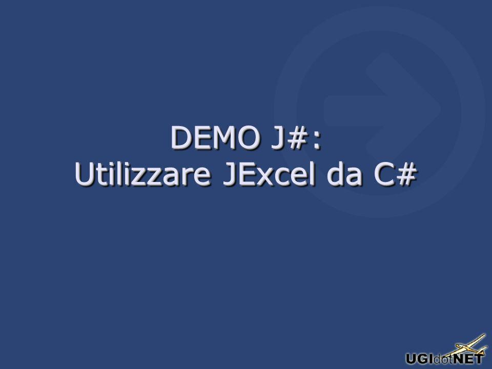 DEMO J#: Utilizzare JExcel da C#