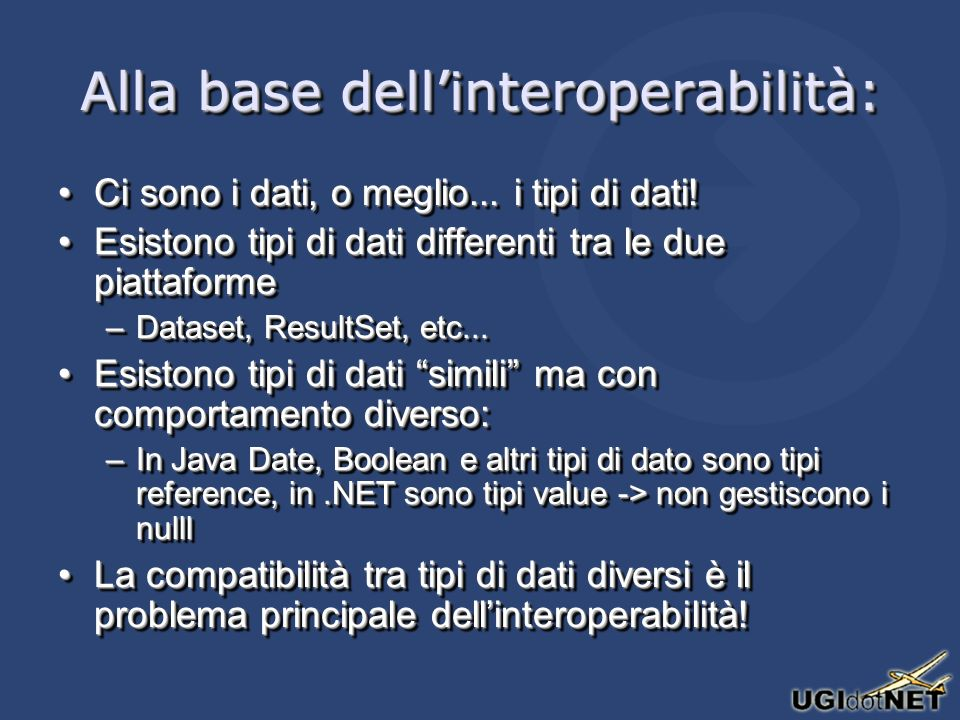 Alla base dellinteroperabilità: Ci sono i dati, o meglio...