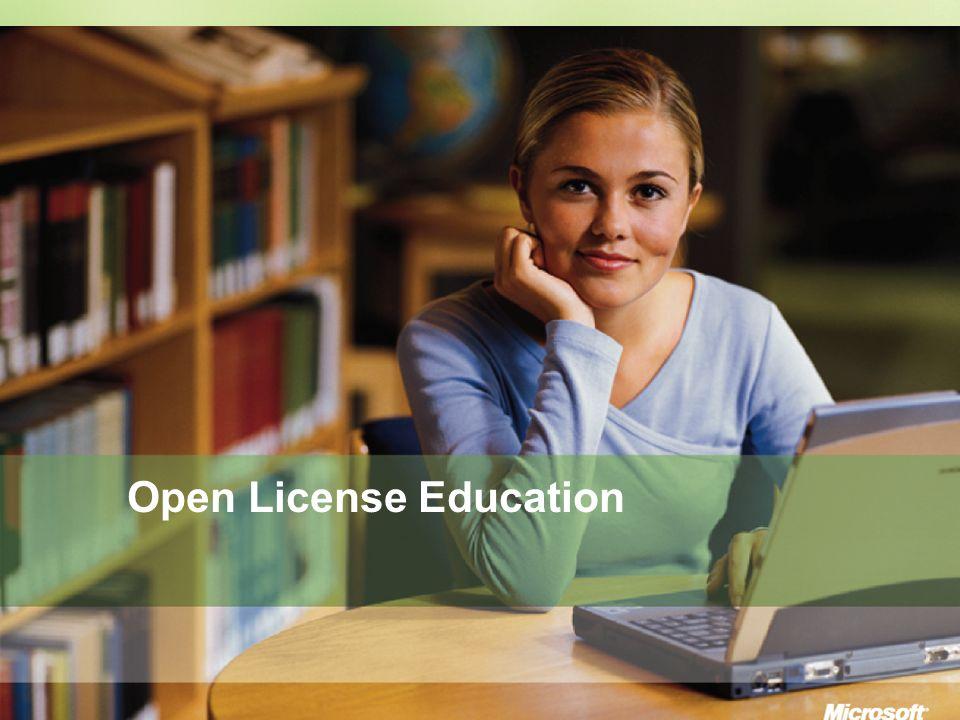Education Licensing Da capire: - Bastano 5 licenze di qualunque tipo Da gestire/amministrare: - Licenza elettronica attraverso il sito eOpen https://eopen.microsoft.com/IT/default.asp - Visualizzazione degli ordini tramite il sito eOpen Da ri-acquistare: - E possibile riordinare anche un solo prodotto Microsoft Rimanere legali: - Qualunque prodotto è acquistabile con EasyOpen Microsoft Easy Open: facile...