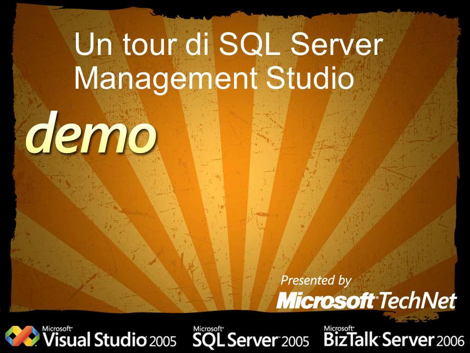 Un tour di SQL Server Management Studio