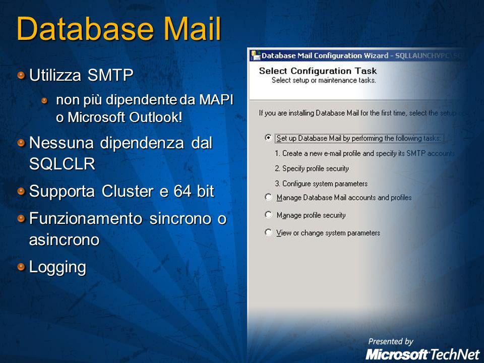 Utilizza SMTP non più dipendente da MAPI o Microsoft Outlook.