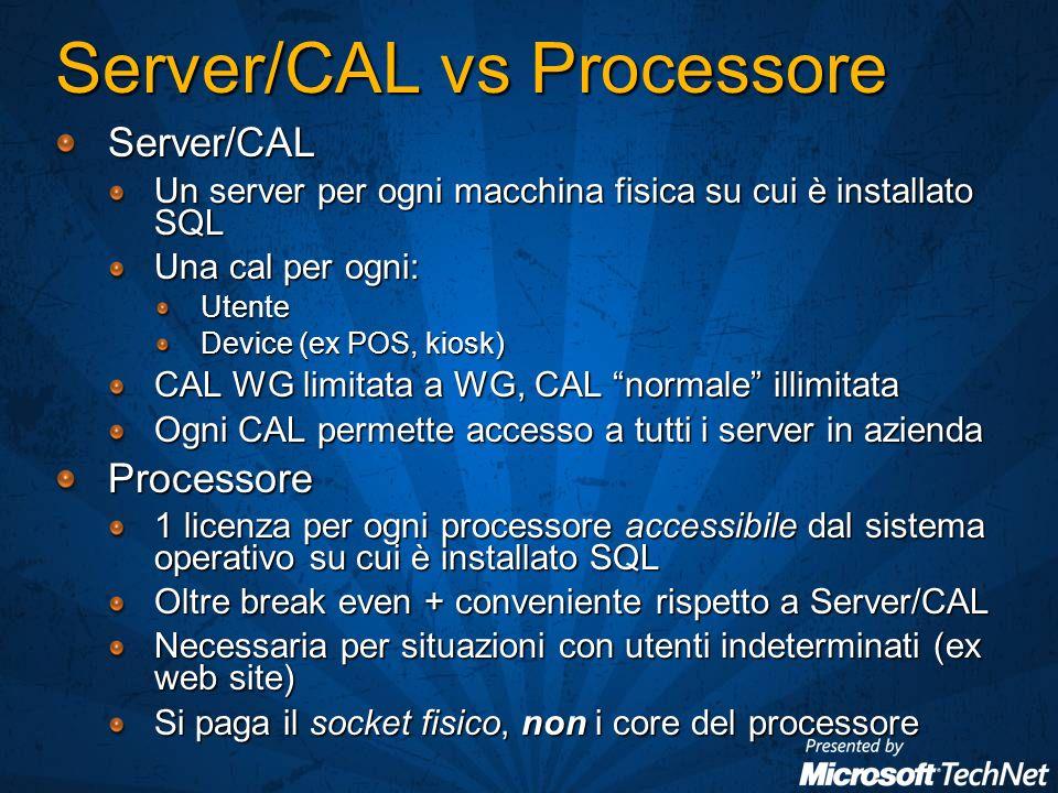 Monitoring Log: Approccio unificato Supporto log di diversi servizi SQL Server Database Engine SQL Server Agent Windows Events Database Mail Log Su tutti i logs: RicercheFiltriEsportabilità