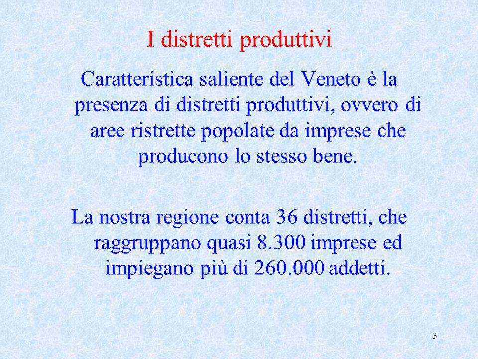 4 Il Veneto è unarea che vive di occupazione e produzione vera, che dipende poco dal settore pubblico e che appare fortemente indirizzata verso i mercati internazionali.