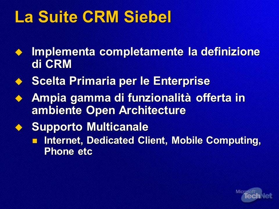 Tipi di Applicazione Siebel Ci sono diversi tipi di Applicazione Siebel.