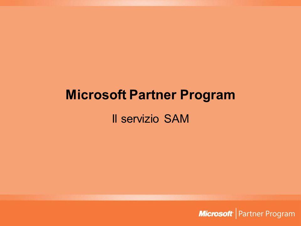 Microsoft Partner Program Il servizio SAM