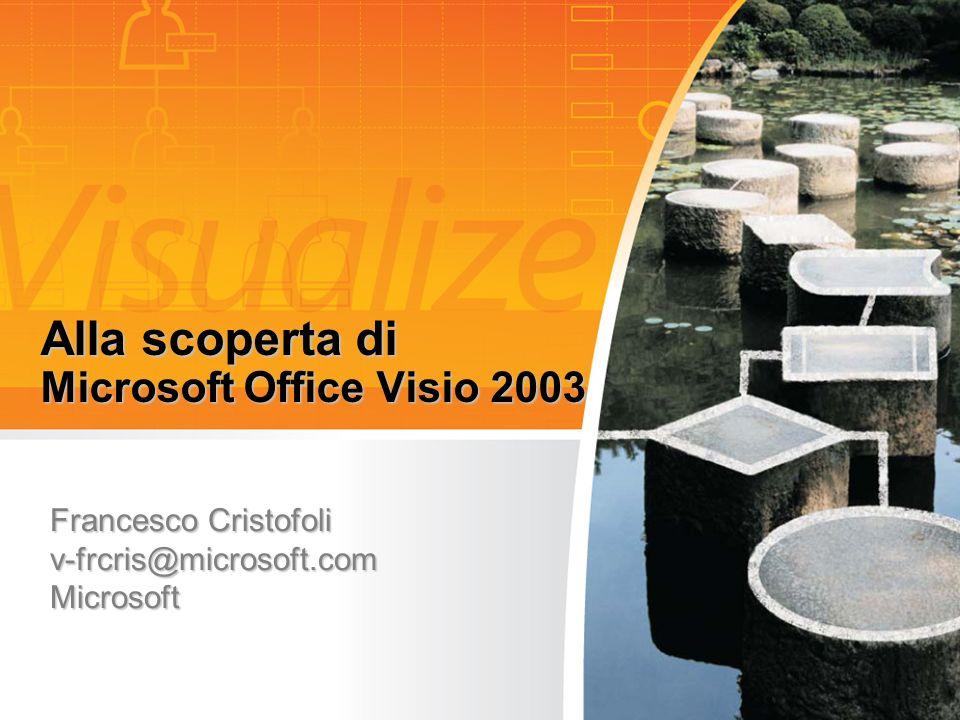 Alla scoperta di Microsoft Office Visio 2003 Francesco Cristofoli v-frcris@microsoft.com Microsoft
