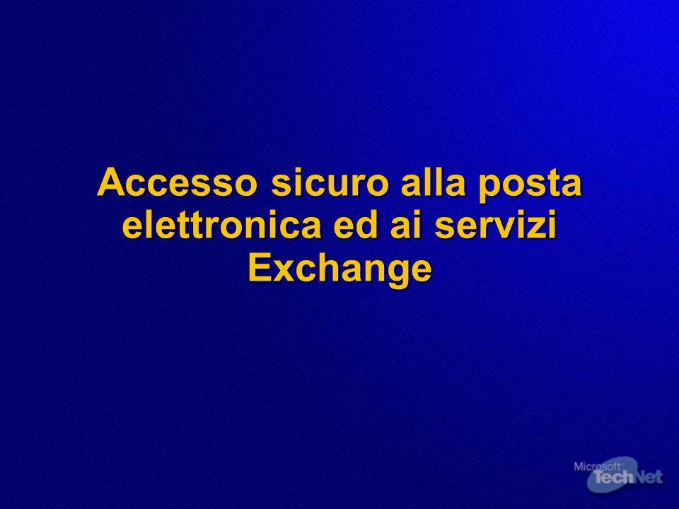 Accesso sicuro alla posta elettronica ed ai servizi Exchange