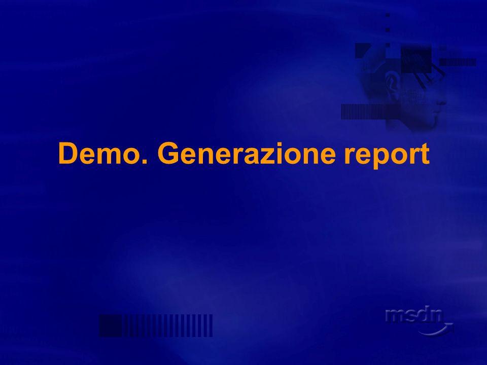 Opzioni Generate expanded HTML database report È il default.