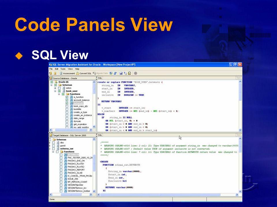 Migrazione di schemi Conversione da PL/SQL a T-SQL Tipi di dati diversi Operatori diversi Sintassi diverse Oggetti diversi Microsoft SSMA può: Convertire Emulare Segnalare con dei warning