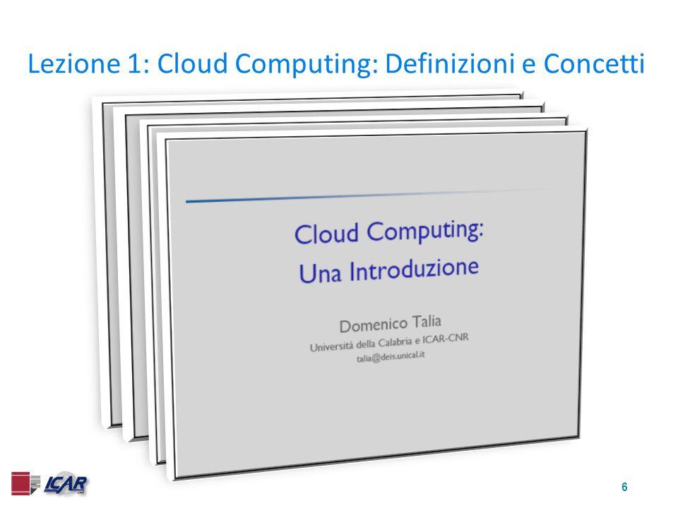 7 Lezione 2: Web Services, Grid e Cloud