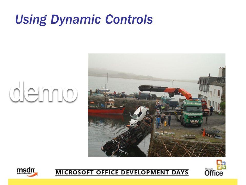 Using Dynamic Controls