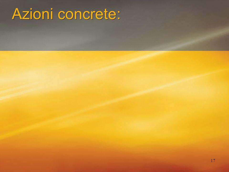 17 Azioni concrete: