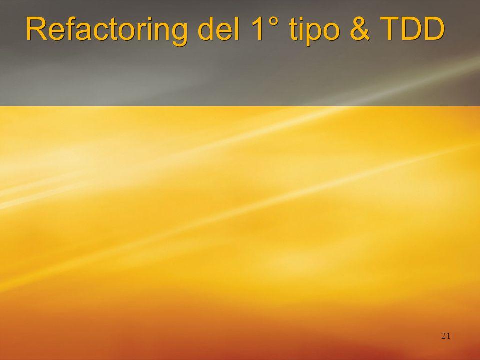 21 Refactoring del 1° tipo & TDD