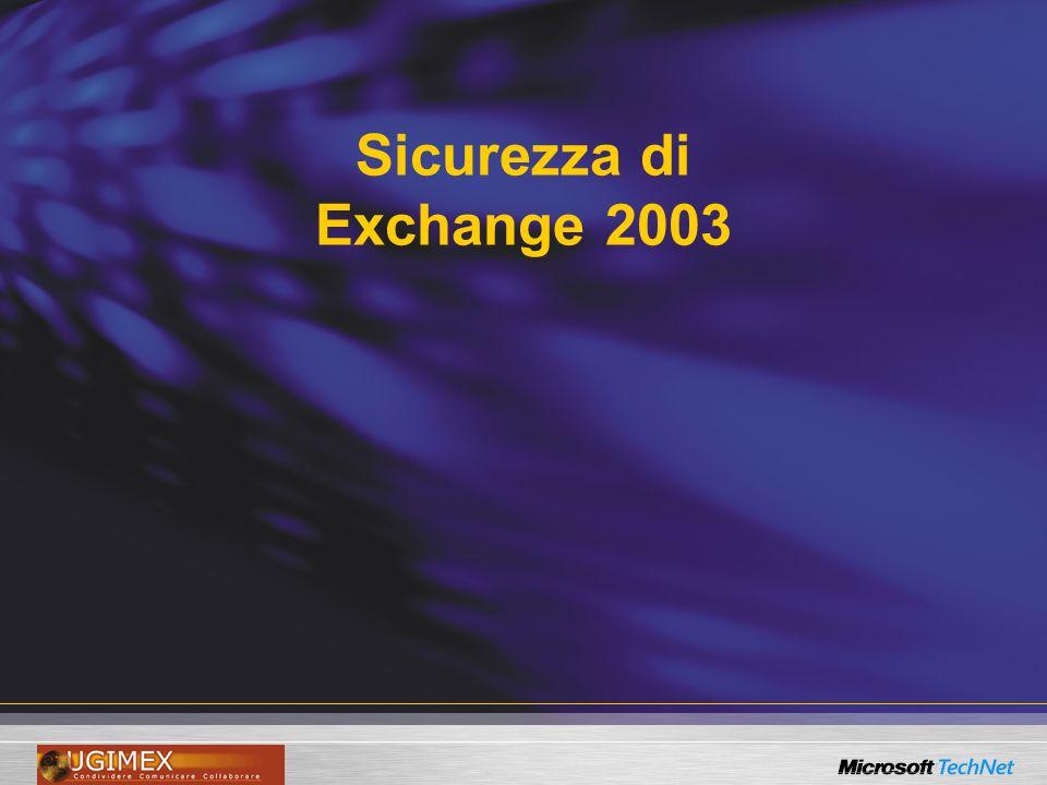 Agenda Comparazione tra Spam e Virus Il problema dello Spam: SMTP Tecnologie/iniziative antispam Mezzi per contrastare lo Spam con uninfrastruttura basata su Microsoft –Exchange 2003 –IMF – Intelligent message filter –Outlook 2003 Visione futura..