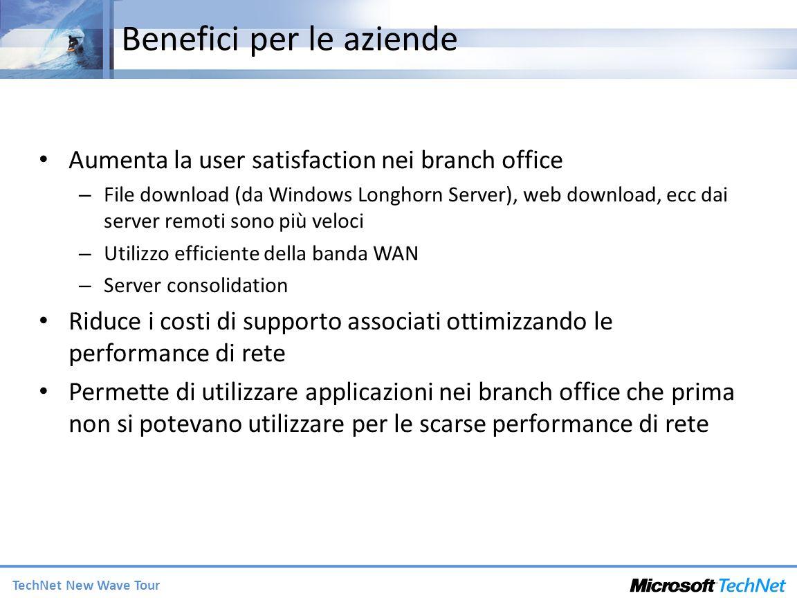 TechNet New Wave Tour Benefici per le aziende Aumenta la user satisfaction nei branch office – File download (da Windows Longhorn Server), web downloa