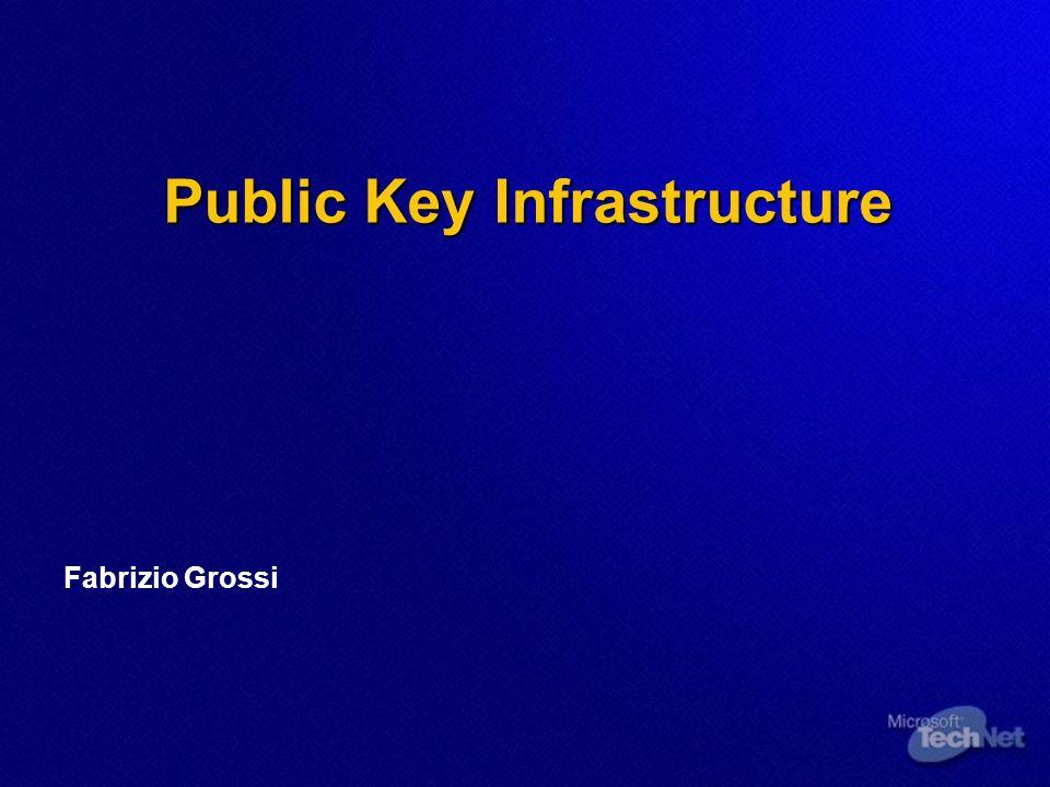 Public Key Infrastructure Fabrizio Grossi