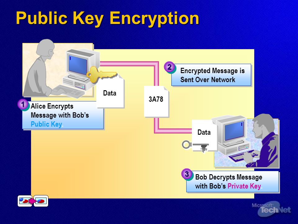 Public Key Authentication Message is Sent Over Network 22 ~*~*~*~ Alice Signs Message with Her Private Key.