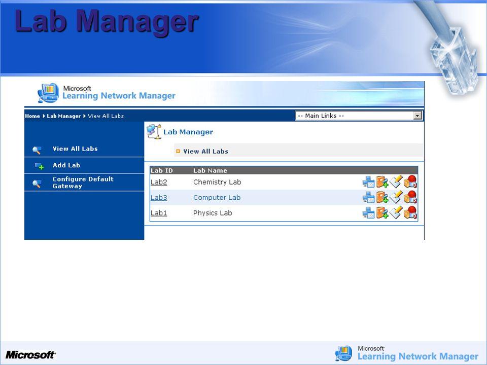 Your Potential. Our Passion Microsoft Lab Manager Lab Manager permette di controllare laccesso ad Internet di: Singoli Computer Interi laboratori Tutt