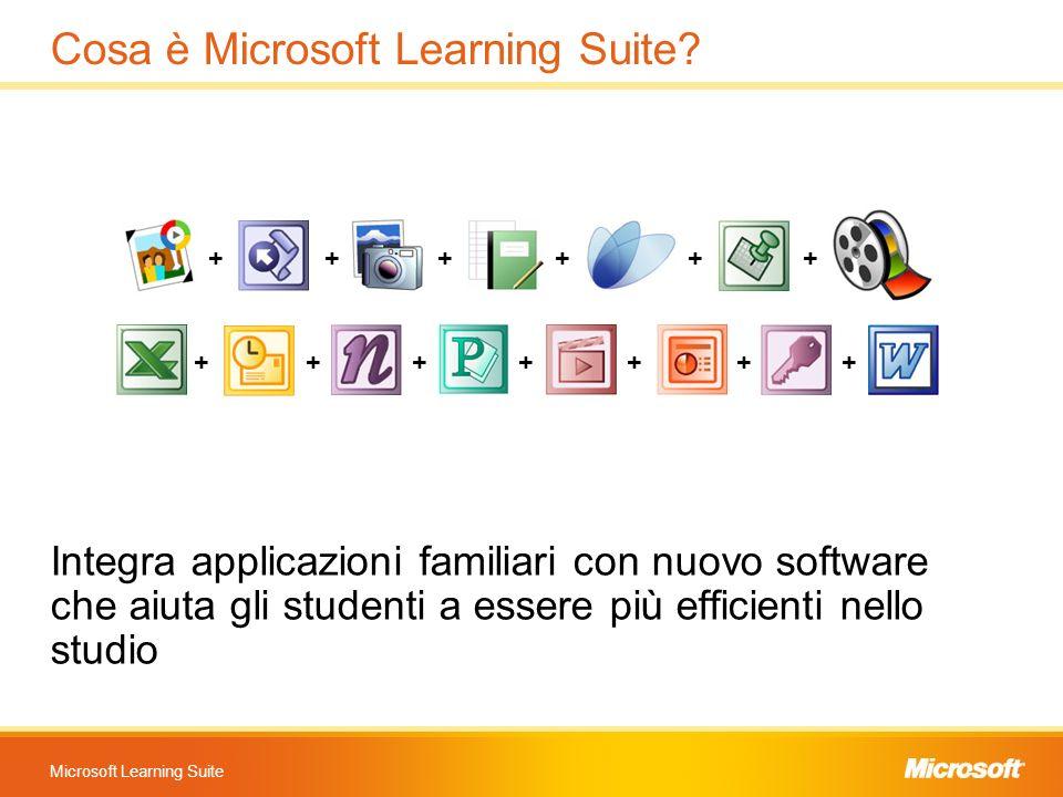 Microsoft Learning Suite Cosa è Microsoft Learning Suite? Integra applicazioni familiari con nuovo software che aiuta gli studenti a essere più effici