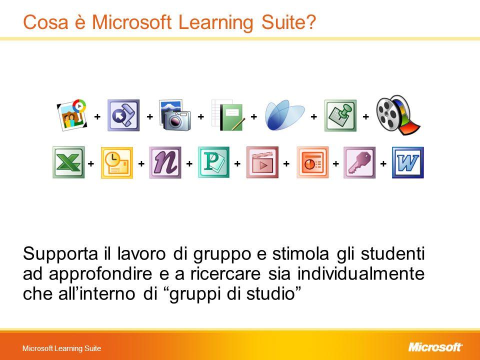 Microsoft Learning Suite Cosa è Microsoft Learning Suite? Supporta il lavoro di gruppo e stimola gli studenti ad approfondire e a ricercare sia indivi